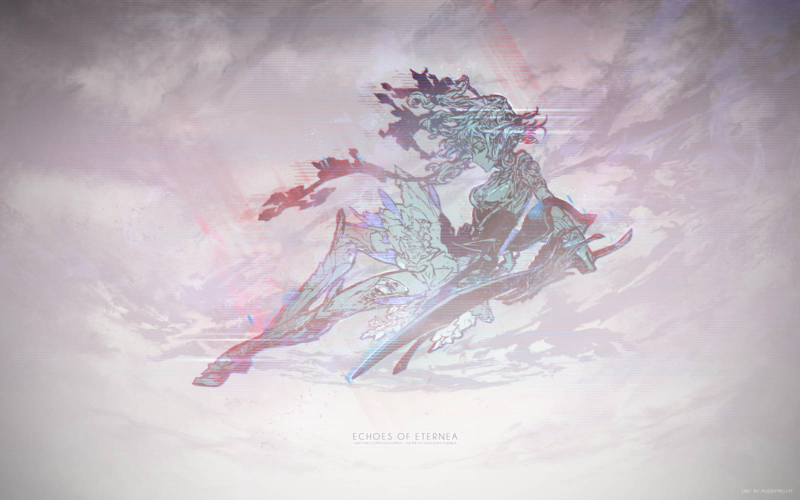 Echoes of Eternea: Namie Logo, Glitched by muddymelly
