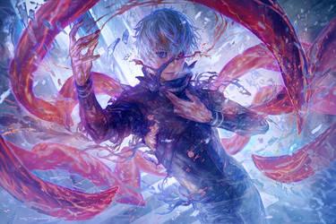 [Commission: Kaneki Ken] - 'Light of Crepuscule' by muddymelly