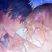 [Haikyuu] Kuroo Tetsurou + Kozume Kenma (close-up) by muddymelly