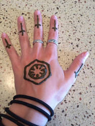 First Order henna hand tattoo by korppi8