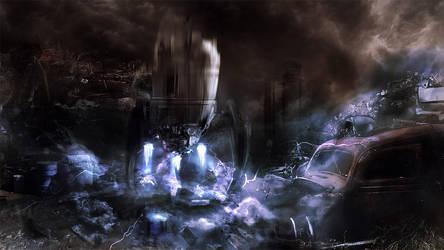 Alien Landing by PlasmaX7
