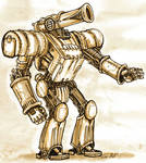 steampunk mecha by Baetones