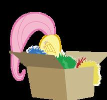 fluttershy in box by robojot