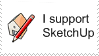 I Support SketchUp Stamp by ElectricCoffee