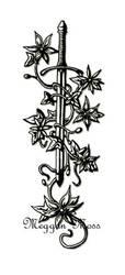 Blade 'N Bloom Tattoo by mystic-rush