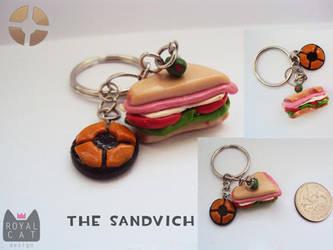 The Sandvich Charm by RoyalCatDesign