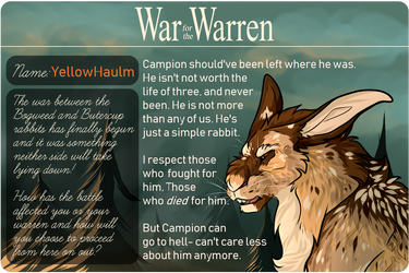 [WFTW] This is war - YellowHaulm by StarCanid