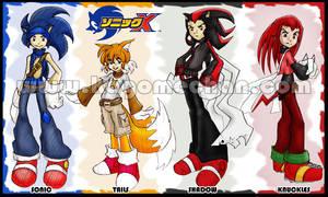 Sonic X: Boys Manga Style by I-heart-Link