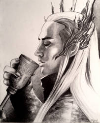 Thranduil and Wine by TheSilverWyrm