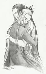 Thranduil and his Butler by TheSilverWyrm