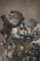 Atomic Robo Vol.2 TPB Cover by swegener