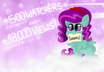 Thanks for the +500 Watchers! by MLPegasis4898