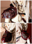 Commission : Knotwork Pauldron by Nezumi-chuu