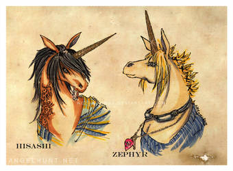 Commission: Streifen Unicornis by Nezumi-chuu