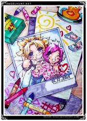 Angel Hunt : Happy Birthday Zephyr by Nezumi-chuu