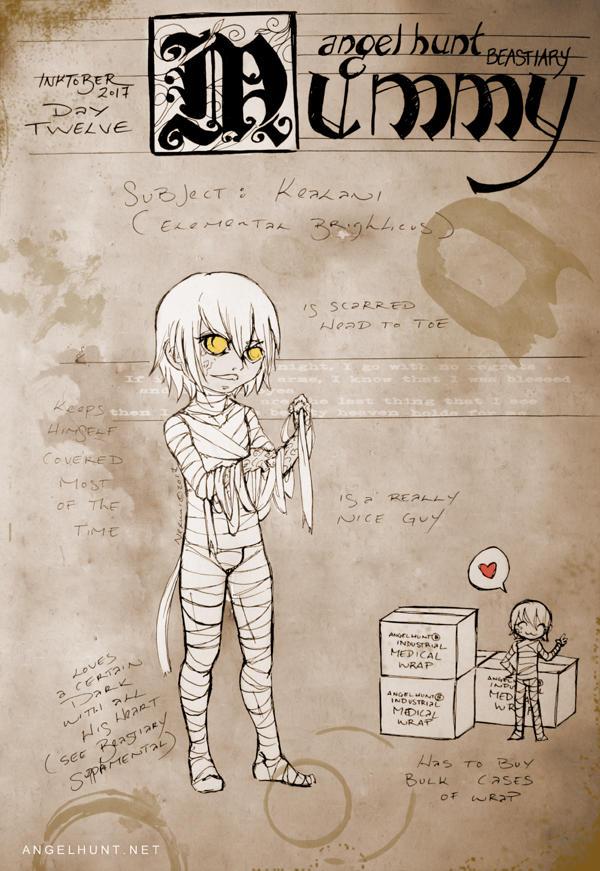 Angel Hunt Beastiary: Mummy by Nezumi-chuu