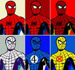 Marvel Comics Spider-Man six panel pop art by TheGreatDevin