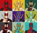 Marvel Deadpool Nine Panel Pop Art by TheGreatDevin