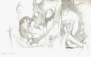 Nightmare Rough Sketch by kidbrainer