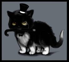 Tuxedo Cat by kidbrainer