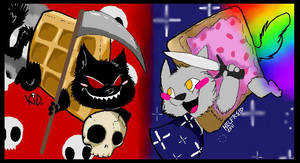 Nyan Cats by kidbrainer
