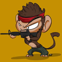 Monkey Icon- Commission by kidbrainer
