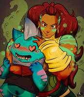 Bruce and Illaoi- Commission by kidbrainer