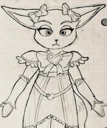 Fara Phoenix as Shiny Luminous Sketch by MissMcCloud