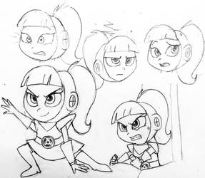 Atomic Betty Sketches by MissMcCloud
