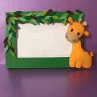Giraffe Mini Plushie frame by Mimi-Mushroom