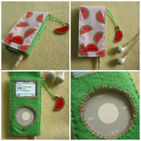 What a Melon. iPod case holder by Mimi-Mushroom
