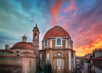 Sunset in Florence by INVIV0