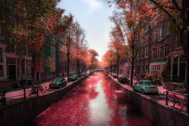 Amsterdam in Pink by INVIV0