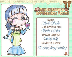 Bakery Application Form - Drinks Maker by alittleofsomething