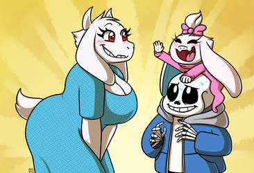 Happy family soriel by alittleofsomething