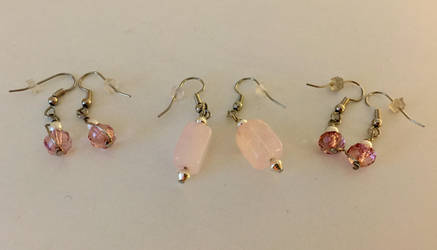 More Pink Earrings by KMCJewelryDesigns