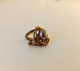 Swirly Wire Wrap Ring by KMCJewelryDesigns