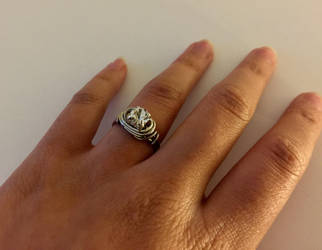 Silver Wire Wrap Ring by KMCJewelryDesigns