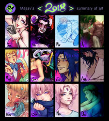 Summary of art 2018 by ginmushroom