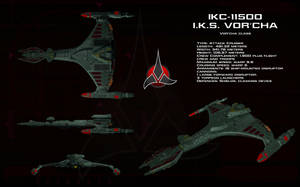 Vor'cha class ortho - I.K.S. Vor'cha by unusualsuspex