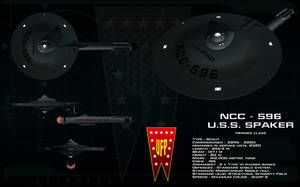 Hermes class ortho - USS Spaker by unusualsuspex