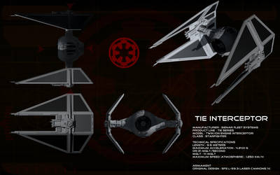TIE Interceptor ortho by unusualsuspex