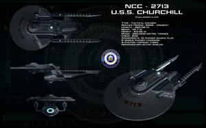 TMP Challenger class - USS Churchill by unusualsuspex