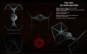 TIE/rc Reconnaissance Starfighter ortho by unusualsuspex