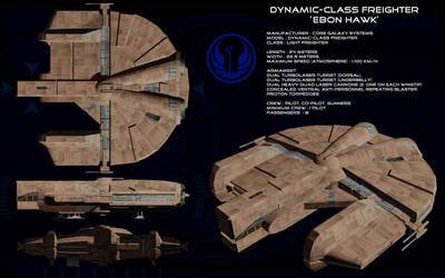 Dynamic class freighter Ebon Hawk ortho by unusualsuspex