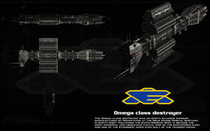 Omega class destroyer ortho by unusualsuspex