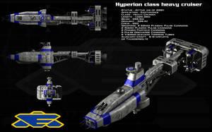 Hyperion class heavy cruiser by unusualsuspex