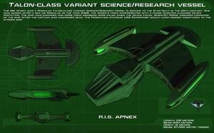 Romulan Science/Research Vessel ortho [new] by unusualsuspex