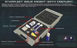 Starfleet Medkit [24th Century] Tech Readout [new] by unusualsuspex
