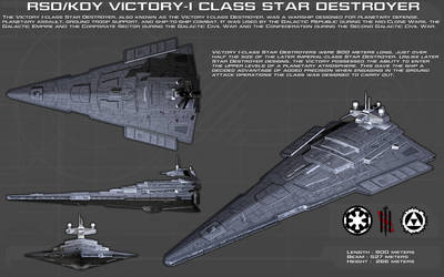 Victory I class Star Destroyer ortho [New] by unusualsuspex